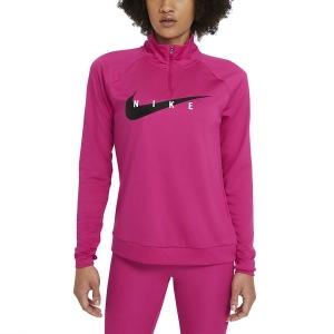 Nike Swoosh Run Camisa - Fireberry/Black