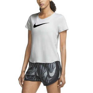 Women's Running T-Shirts Nike Swoosh Run TShirt  Grey Fog/Reflective Silver/Black CU3237097