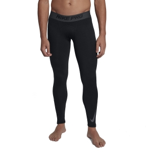 Men's Underwear Tights Nike Therma Pro Warm Tights  Black/Anthracite/Dark Grey 929711010