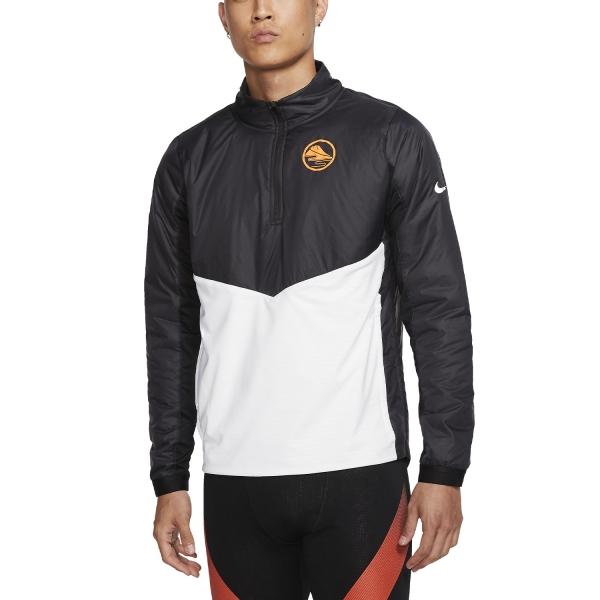 Nike Ekiden Element Shirt - Black/White/Reflective Silver