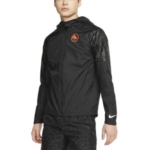 Nike Ekiden Essential Jacket - Black/Hyper Crimson