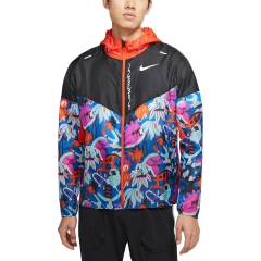 Nike Tokyo Windrunner Jacket - Black/Team Orange