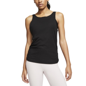 Canotta Fitness e Training Donna Nike Yoga Canotta  Black/Dark Smoke Grey CJ4217010