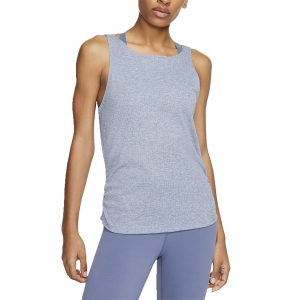 Canotta Fitness e Training Donna Nike Yoga Canotta  Diffused Blue/Heather/Obsidian Mist CJ4217491