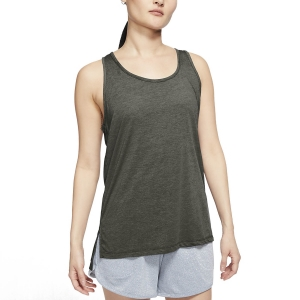 Canotta Fitness e Training Donna Nike Yoga Canotta  Cargo Khaki/Heather/Medium Olive CQ8826325