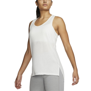 Canotta Fitness e Training Donna Nike Yoga Canotta  Summit White/Platinum Tint CQ8826121