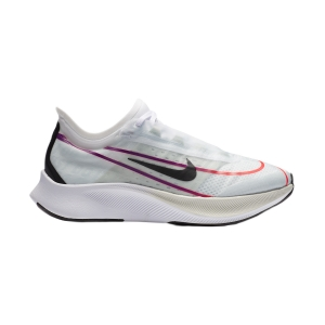 Women's Performance Running Shoes Nike Zoom Fly 3  White/Black/Hyper Violet/Flash Crimson AT8241102
