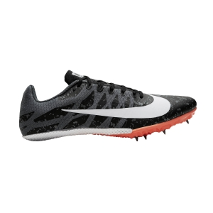 Men's Racing Shoes Nike Zoom Rival S 9  Black/White/Iron Grey/Hyper Crimson 907564008