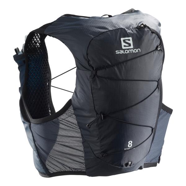 Salomon Active Skin 8 Set Backpack - Ebony/Black