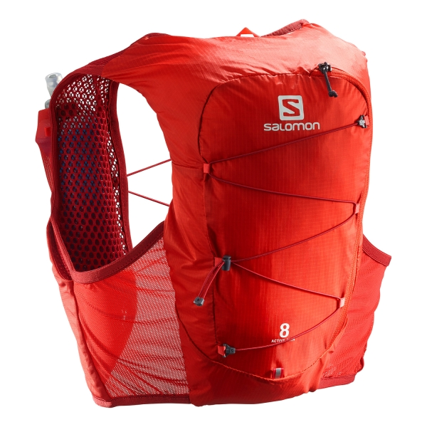 Salomon Active Skin 8 Set Backpack - Valiant Poppy/Red Dahlia
