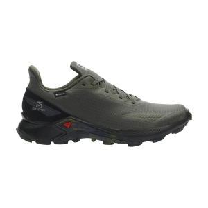 Men's Trail Running Shoes Salomon Alphacross Blast GTX  Olive Night/Black L41105800