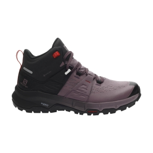 Women's Outdoor Shoes Salomon Odyssey Mid GTX  Black/Flint/High Risk Red L41144700