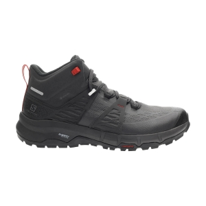 Scarpe Outdoor Uomo Salomon Odyssey Mid GTX  Black/Shale/High Risk Red L41144500