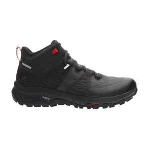 Men's Outdoor Shoes Salomon Odyssey Mid GTX  Black/Shale/High Risk Red L41144500