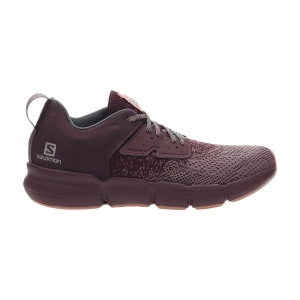 Women's Neutral Running Shoes Salomon Predict SOC  Flint/Wine Tasting/Brick Dust L41126800