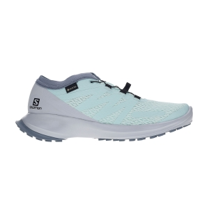 Women's Trail Running Shoes Salomon Sense Flow GTX  Icy Morn/Pearl Blue/Flint Stone L40967600