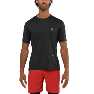 Men's Running T-Shirt Salomon Sense Ultra TShirt  Black LC1294900