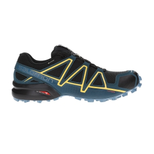 Men's Trail Running Shoes Salomon Speedcross 4 GTX  Black/Reflecting Pond/Spectra Yellow L40786100