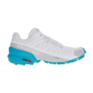 Women's Trail Running Shoes Salomon Speedcross 5  White/Bluebird L40968700