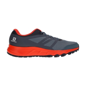 Men's Trail Running Shoes Salomon Trailster 2  Stormy Weather/Cherry Tomato/Ebony L40962800