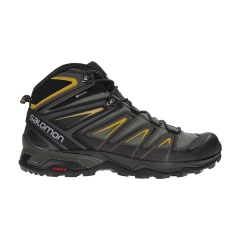 Salomon X Ultra 3 Mid GTX - Castor Gray/Black/Green Sulphur