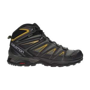 Scarpe Outdoor Uomo Salomon X Ultra 3 Mid GTX  Castor Gray/Black/Green Sulphur L40133700