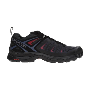 Women's Outdoor Shoes Salomon X Ultra 3  Graphite/Black/Beet Red L40468100