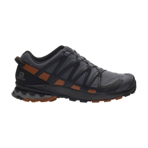 Men's Trail Running Shoes Salomon XA Pro 3D V8 GTX Wide  Ebony/Caramel Cafe/Black L41042800