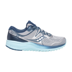 Woman's Structured Running Shoes Saucony Omni ISO 2  Grey/Aqua 1051125