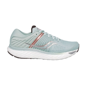 Women's Neutral Running Shoes Saucony Triumph 17  Sky Grey/Coral 1054645