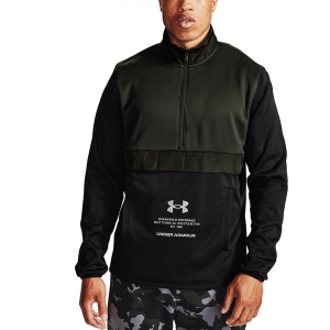 Maglia e Felpa Fitness e Training Uomo Under Armour Storm 1/2 Zip Felpa  Baroque Green/Reflective 13570840310