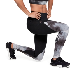 Under Armour Rush Print Tights - Black