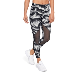 Under Armour HeatGear Armour Mesh Print Tights - Black