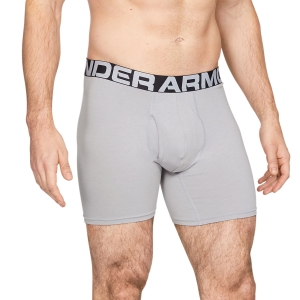 Boxer Intimo Sportivo Uomo Under Armour Charged Cotton 6in x 3 Boxer  Gray 13274260012