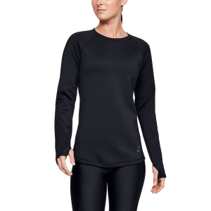Women's Running Shirt Under Armour ColdGear Armour Shirt  Black 13445310001