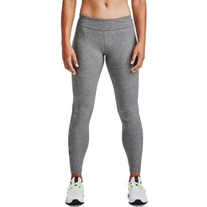 Women's Running Tight Under Armour Favorite Wordmark Tights  Carbon Heather/Black 13564030090