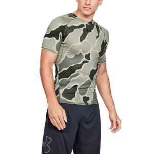Men's Running T-Shirt Under Armour HeatGear Camo TShirt  Green 13457220388