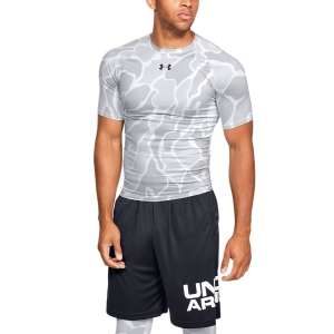 Men's Running T-Shirt Under Armour HeatGear Armour Camo TShirt  White 13457220101