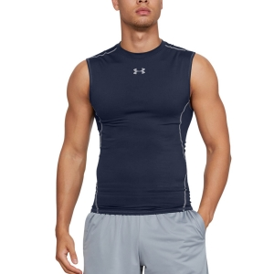 Camisetas sin mangas Running Hombre Under Armour HeatGear Compression Top  Navy 12574690410
