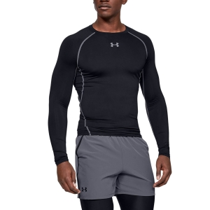 Men's Shirts Sport Underwear Under Armour HeatGear Compression Shirt  Black 1257471001