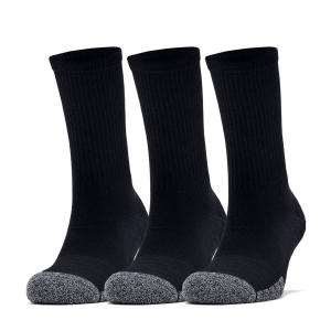 Under Armour HeatGear Crew Socks - Black/Steel