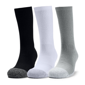 Under Armour HeatGear Crew Socks - Steel/White/Grey