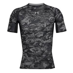Under Armour HeatGear Camo T-Shirt - Black/White