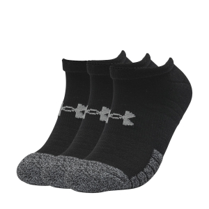 Running Socks Under Armour HeatGear No Show Socks  Black 13467550001