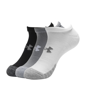 Running Socks Under Armour HeatGear No Show x 3 Socks  Gray 13467550035