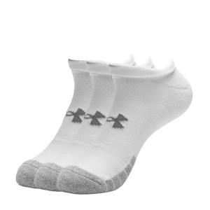 Under Armour HeatGear No Show x 3 Socks - White