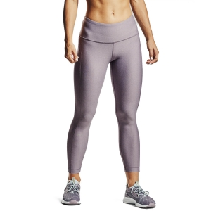 Women's Fitness & Training Pants and Tights Under Armour HeatGear Rise Crop Tights  Slate Purple Light Heather/Halo Gray 13525380585