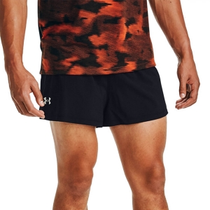 Under Armour Launch Split 2in Shorts - Black/Reflective