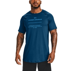 Men's Fitness & Training T-Shirt Under Armour MK1 Graphic TShirt  Graphite Blue/Electric Blue 13567720581