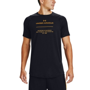 Men's Fitness & Training T-Shirt Under Armour MK1 Graphic TShirt  Black/Golden Yellow 13567720001